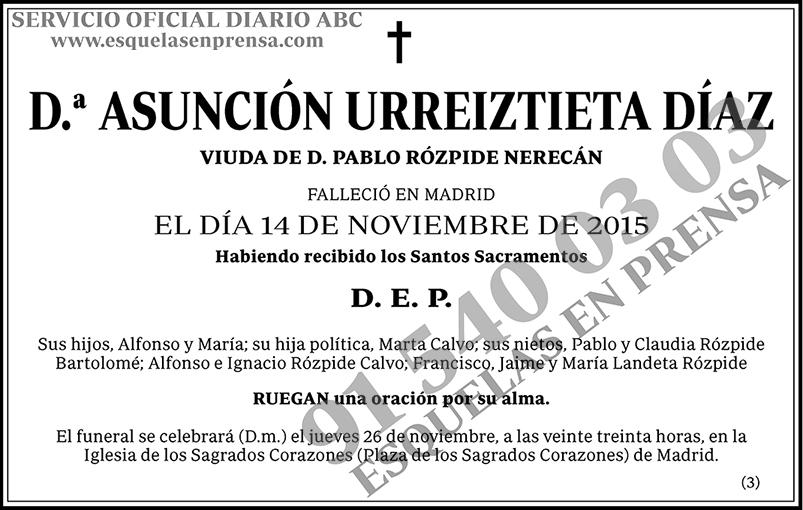 Asunción Urreiztieta Díaz
